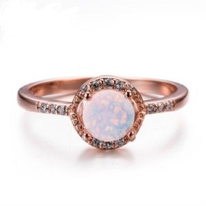 🔥🔥SOON! Round Fire Opal rose gold ring